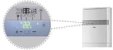 Сенсорный дисплей полупромышленного кондиционера Haier