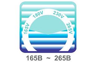 напряжение в сети от 165 В